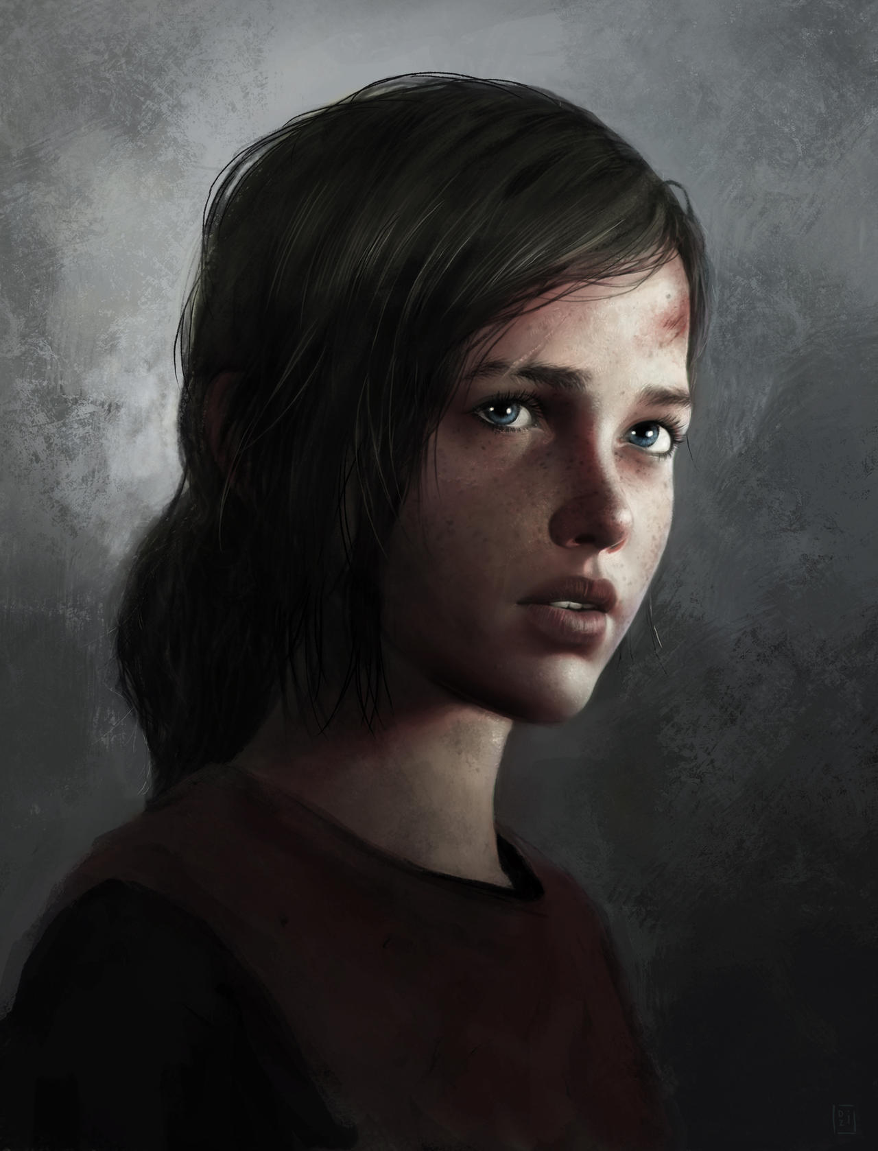 Ellie from The Last of Us by DziKawa on DeviantArt