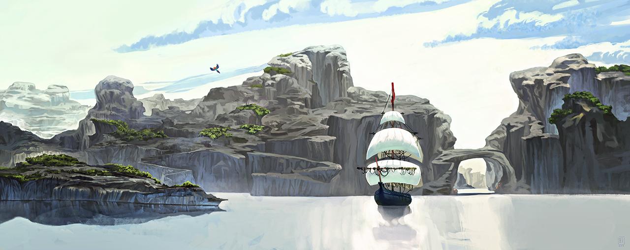 Landscape practice #2 by DziKawa