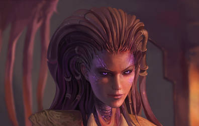 Sarah Kerrigan from Starcraft by DziKawa