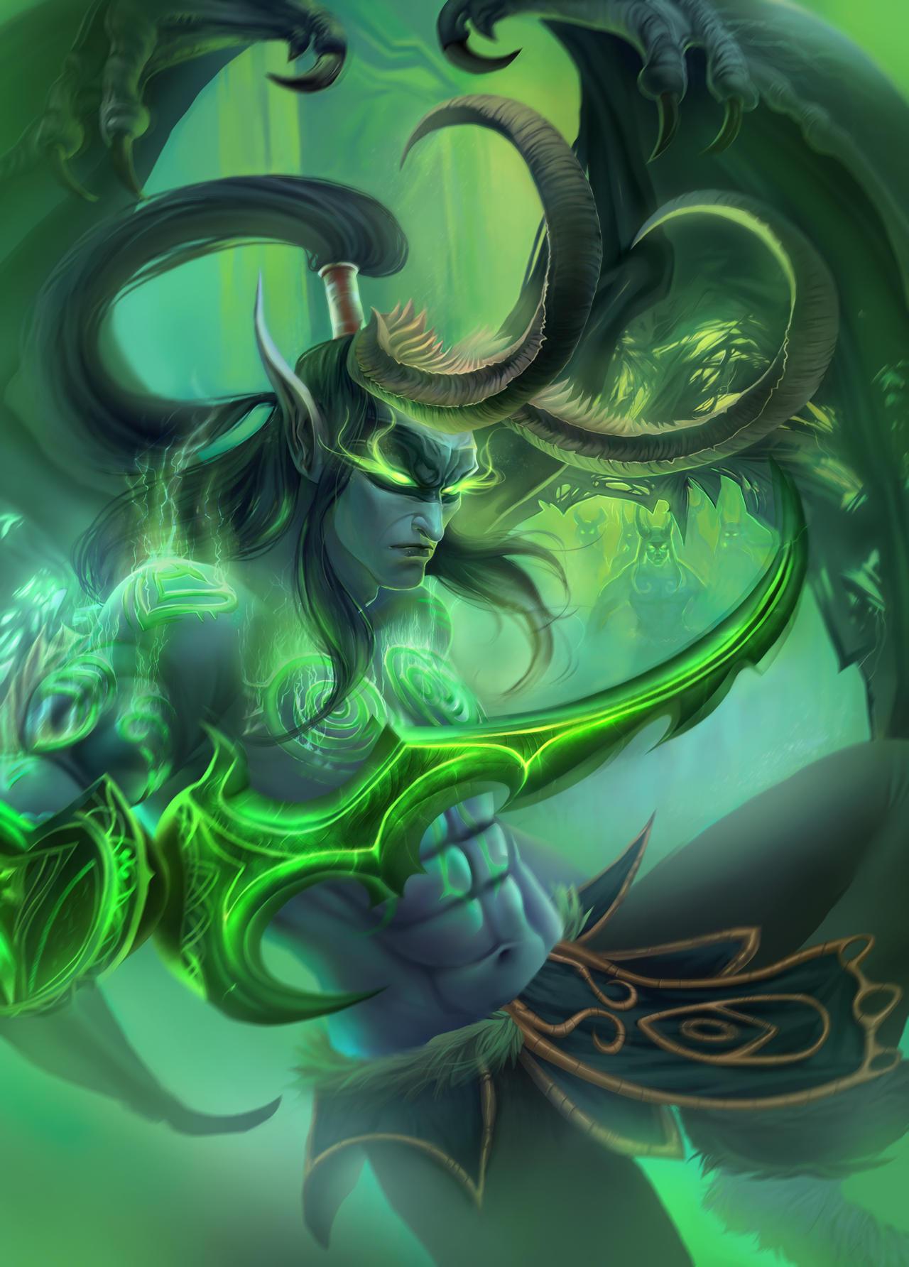 Illidan Stormrage from World of Warcraft by DziKawa on ...