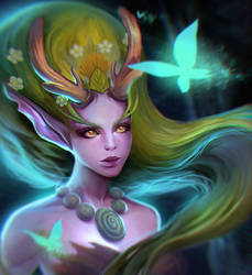 Lunara from Heroes of the Storm by Dzikawa