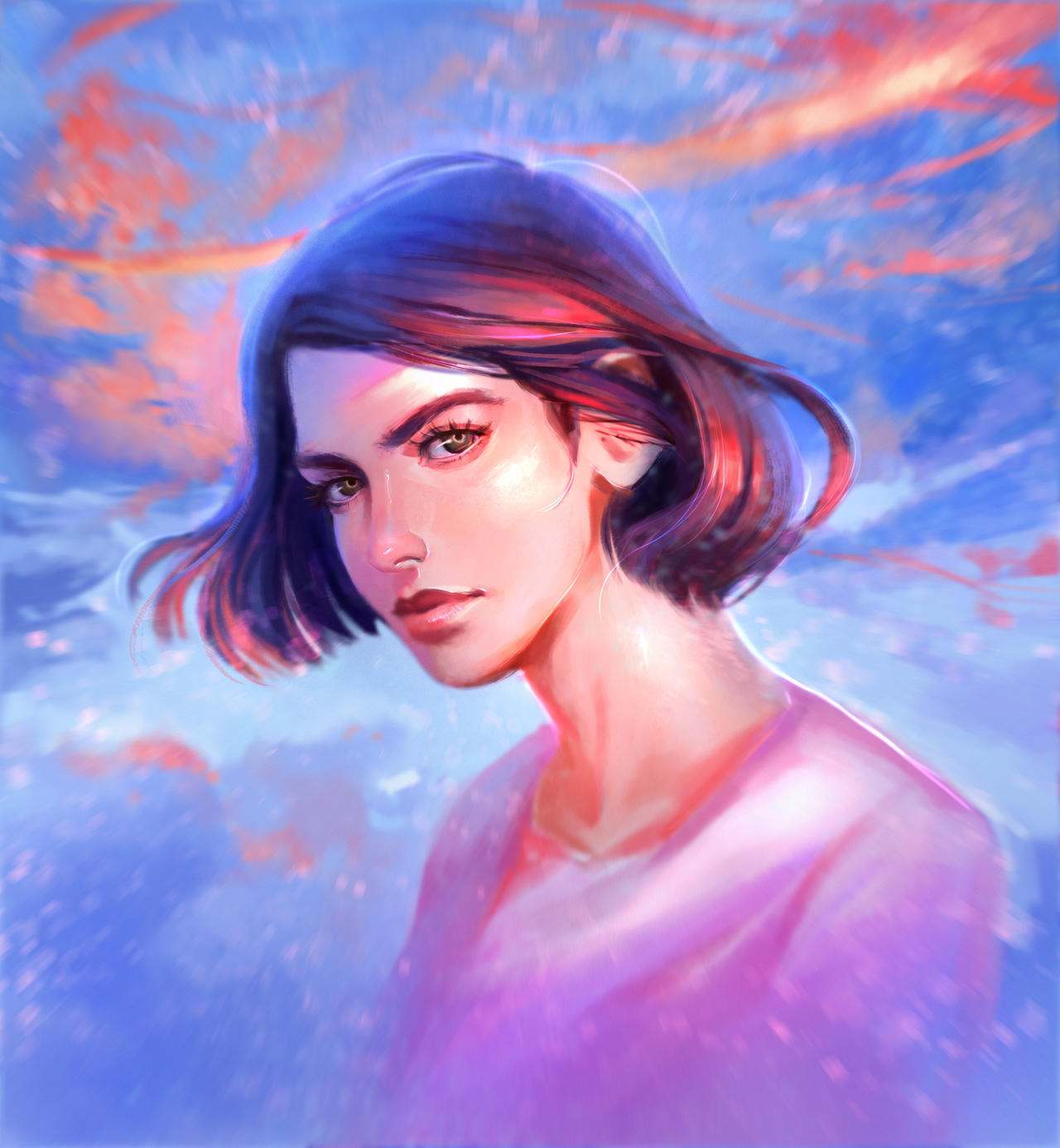 Portrait study by DziKawa