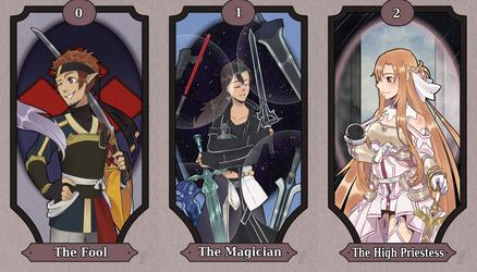 Sword art online Tarot cards 0-2