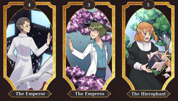 Sword art online Tarot cards 3-5