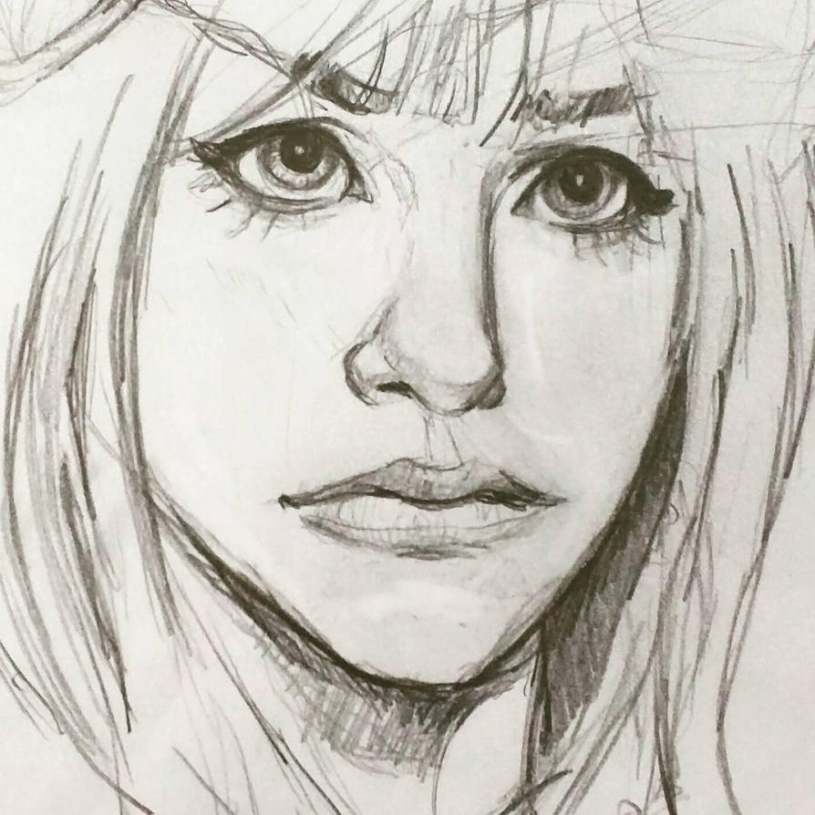 Portrait sketch by KyleBossArt