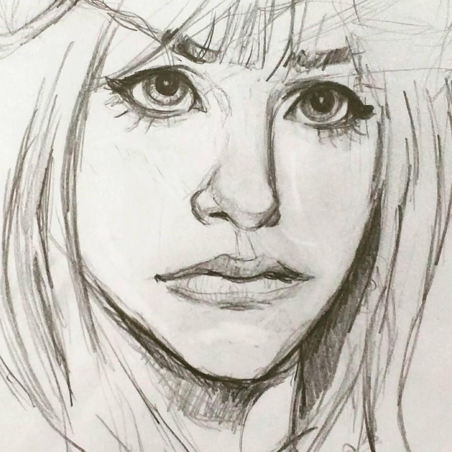Portrait sketch by KyleBossArt
