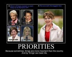 Priorites Demotivator by IronDino