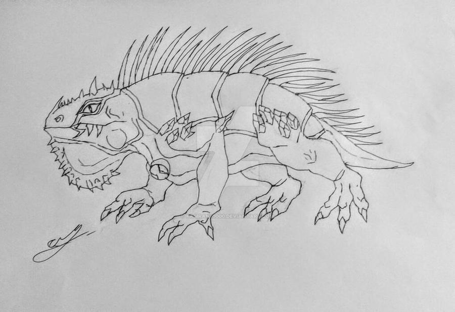 Realistic Arcticguana sketch by Kamran10000
