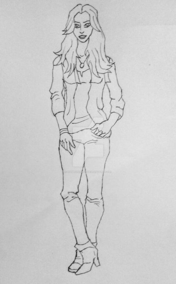 Daisy Johnson (Skye) in genrex style sketch by Kamran10000
