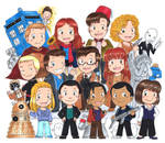 Doctor Who Chibis galore