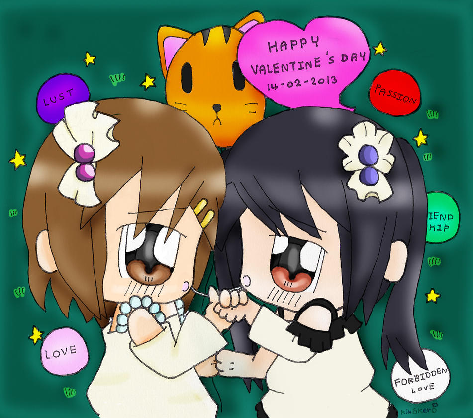 K-On!!: Happy Valentines Day 2013 YuiAzu!! by kobnokkala