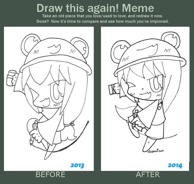 Draw this again meme [My new Mascot] by kobnokkala