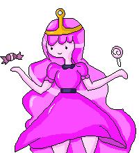 (Pixel) Princess Bubblegum by kawaiigirl300