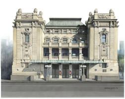 The National Theatre building, Belgrade by Boban-Savic-Geto