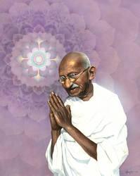 Mahatma Gandhi by Boban-Savic-Geto