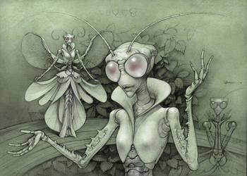Praying Mantis by Boban-Savic-Geto