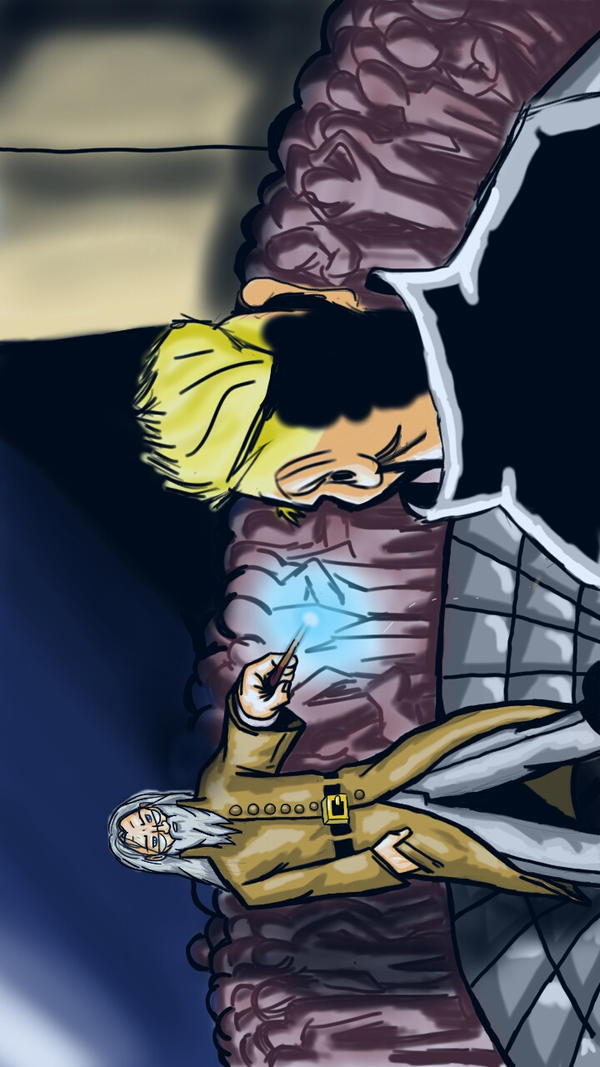 Dumbledore vs Grindelwald by coelosisbiloba