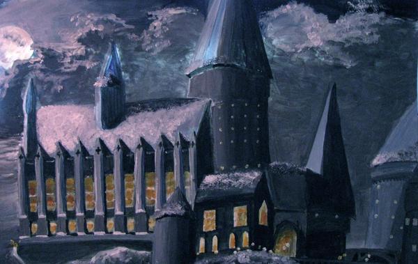 A Little Snow Over Hogwarts by prueslove