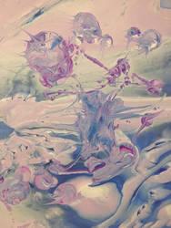 Drip painting. by HaileyLavender