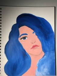 Billie Eilish Oil Painting by HaileyLavender