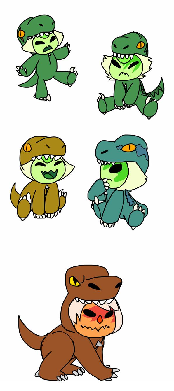 Dino Gemlings by Artdirector123
