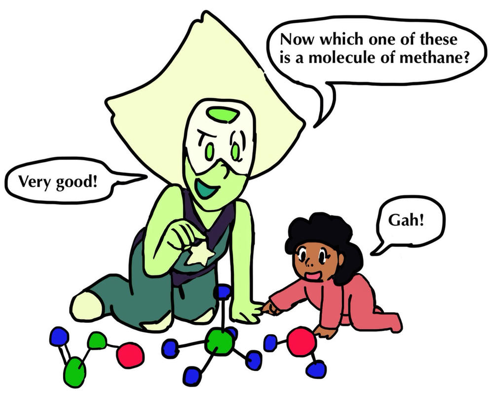 a friend of mine and I had a conversation a few weeks ago about how peridot would react if steven and connie had a kid somewhere down the line. The answer? Nerdy aunt tries to secretly turn their kid into a super genius.