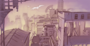 Rough draft - an odd city by shirotsuki