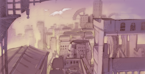 Rough draft - an odd city