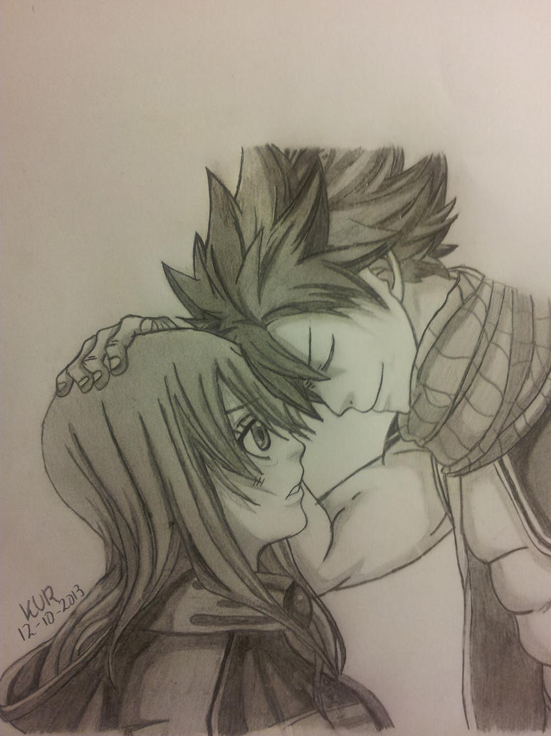 Finished natsu and future lucy fairy tail by - Lucy fairy tail drawing ...