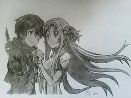 [FINISHED] Kirito and Asuna - Sword Art Online by kerushiidesu