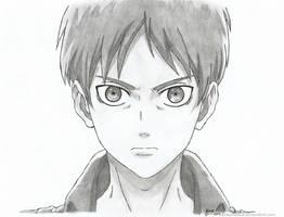 Shingeki no Kyojin:  Eren Jaeger. by kerushiidesu