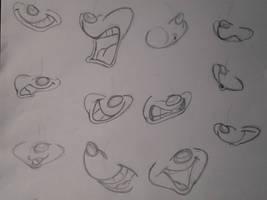 Warner Study: Mouth pt.1 by AyakoOtani