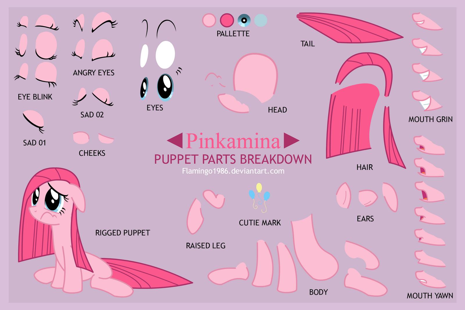 Pinkamina Puppet Sheet By FlamingoRich On DeviantArt