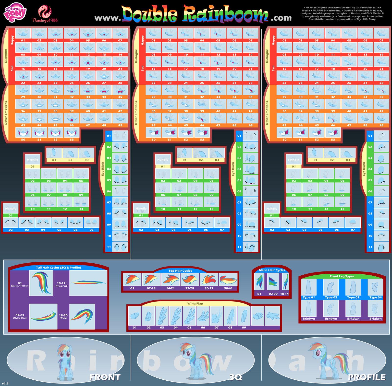 DR Rainbow Dash Puppet Rigs v1.1