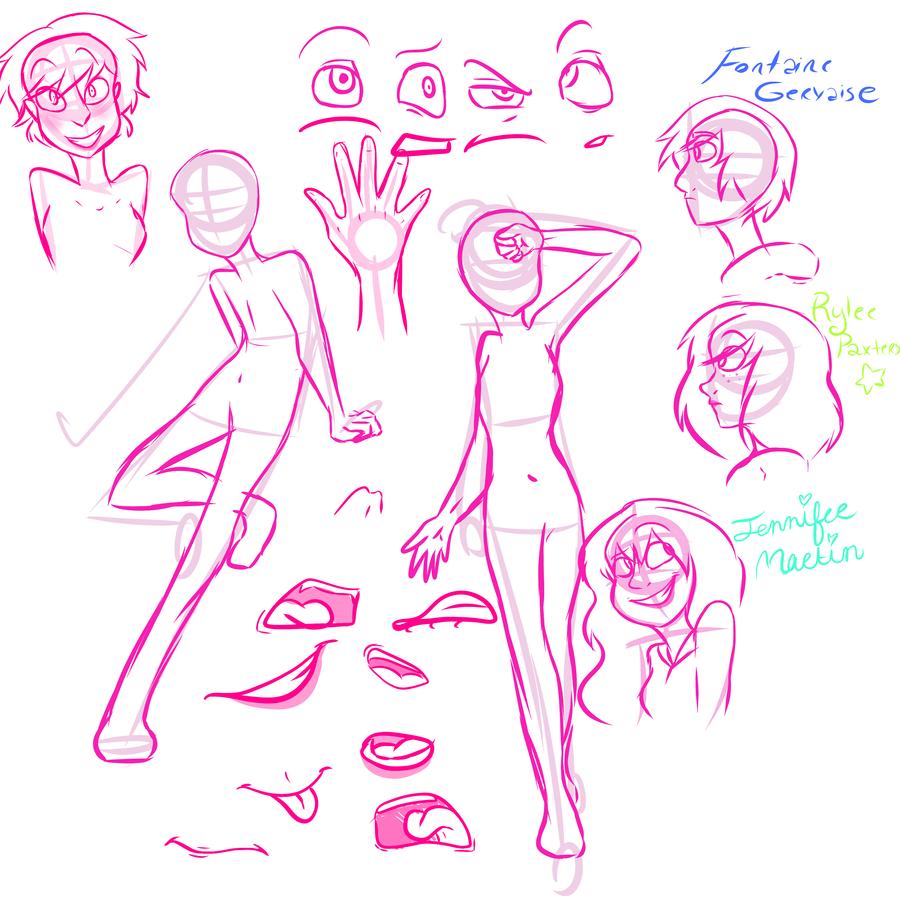 Anatomy, faces, oc\'s, stuff by Sleepy-Octopus on DeviantArt