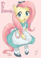 Fluttershy Alice by Yanamosuda