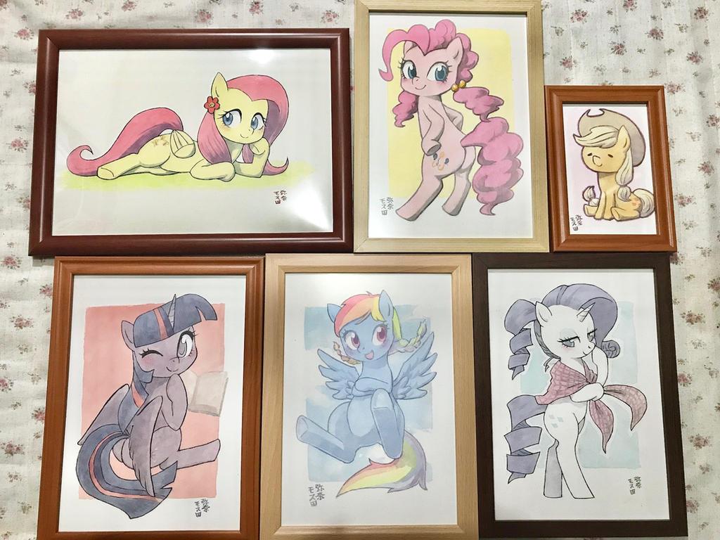 Mane6 Watercolors by Yanamosuda