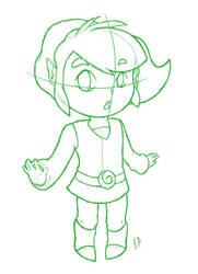 Toon Link sketch by b-panda1