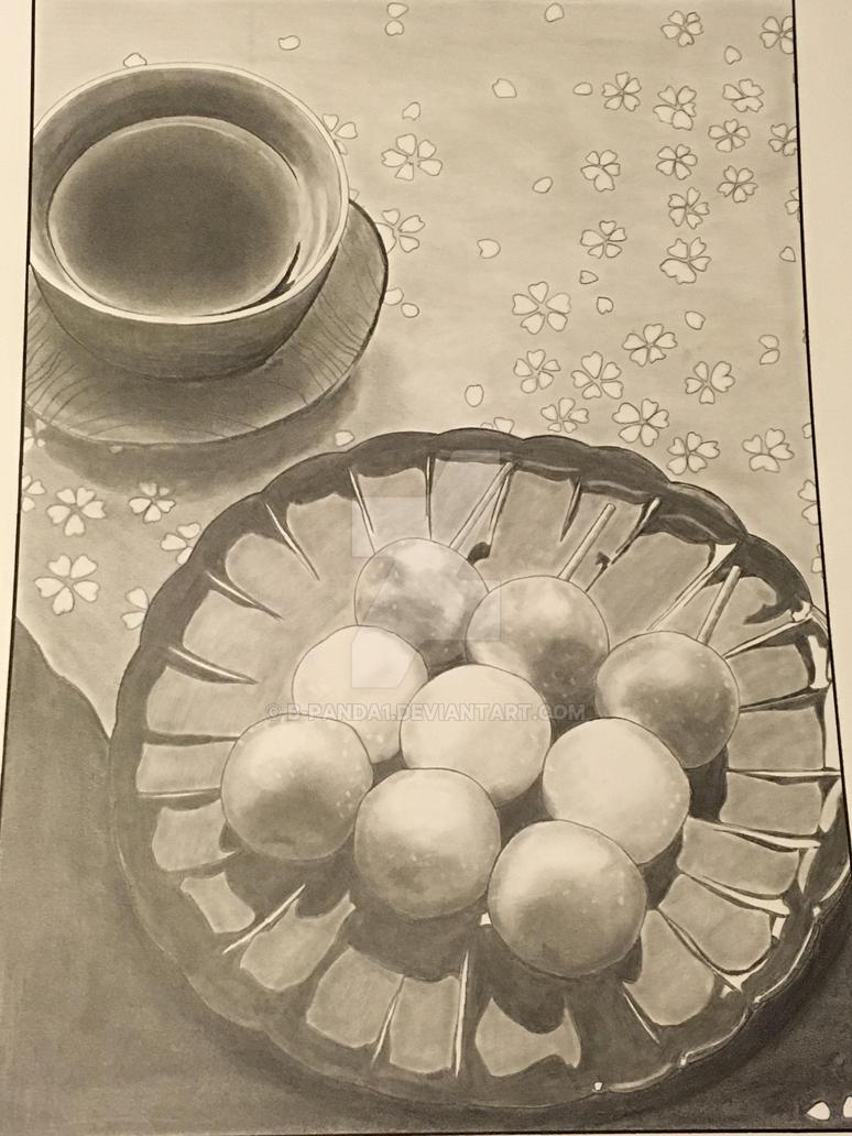 Dango and Tea by b-panda1