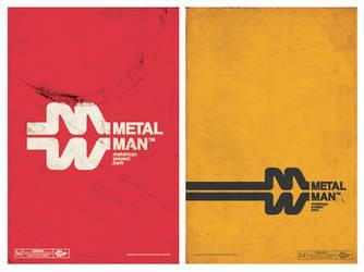 metalman logotype, poster