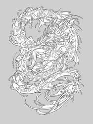 Water Dragon [lineart]