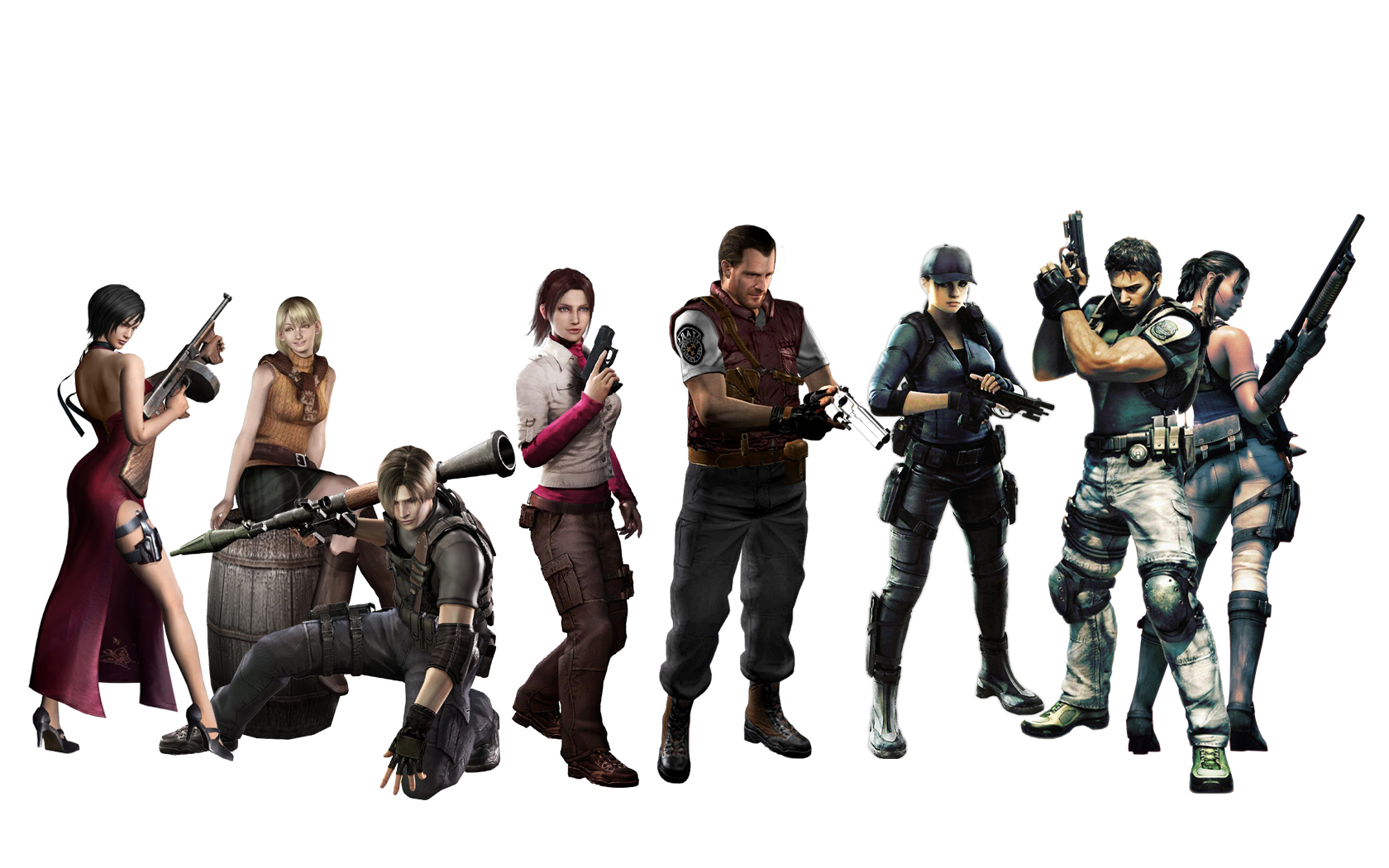 Resident Evil Characters By Michpirate On Deviantart