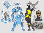 Earth 2 Dr Midnite and Silver Scarab