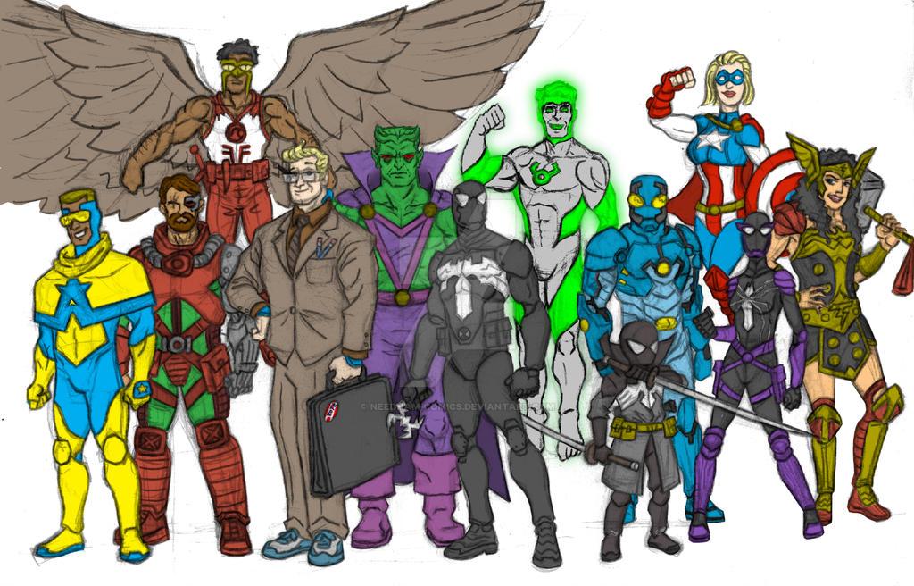 Dc Marvel Amalgam By Needham Comics On Deviantart