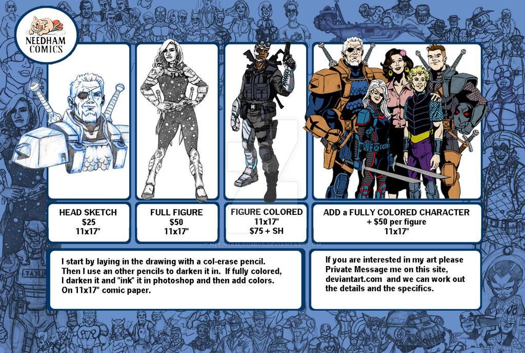 Needham Comics Commission Info by Needham-Comics