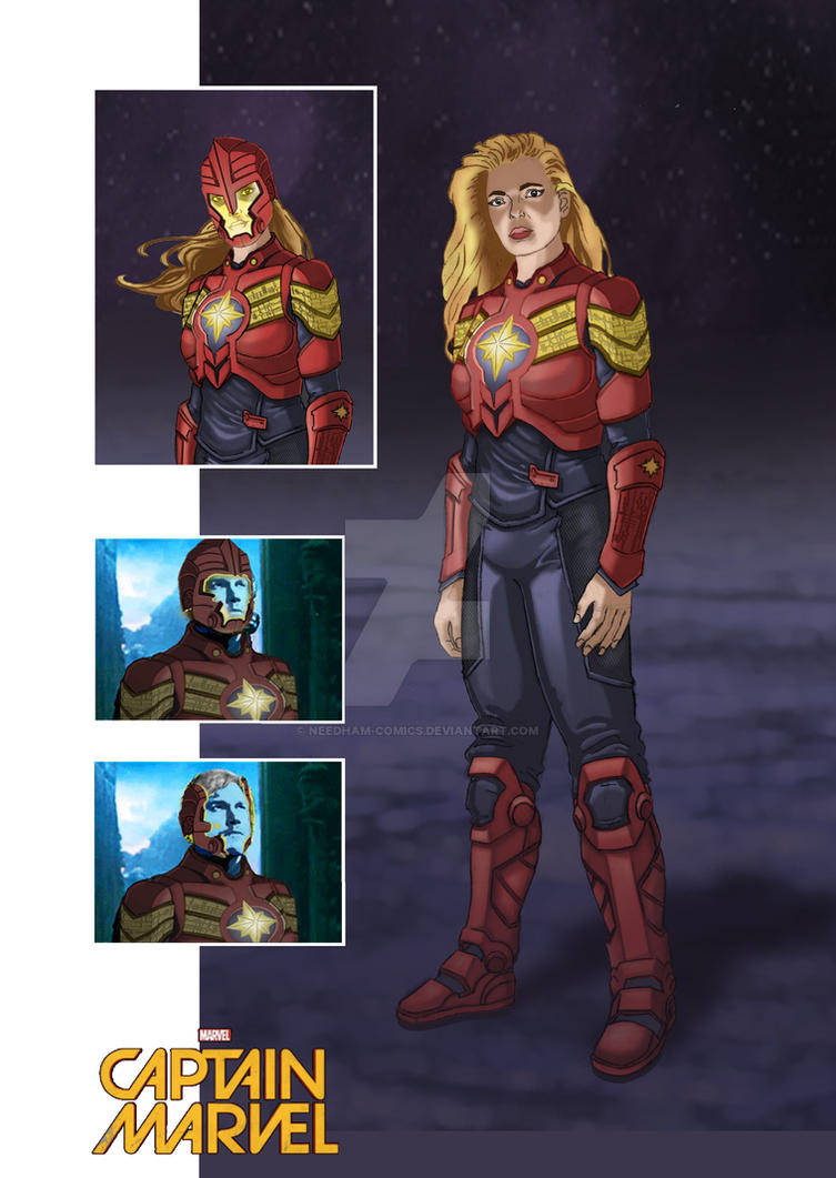 Carol Danvers Captain Marvel Concept Art by Needham-Comics
