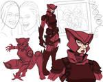 New 52 Le Renarde Rousse AKA Crimson Fox, WIP