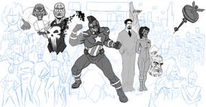 Marvels OMAC Captain America WIP