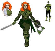 Marvel Redesign of Shamrock by Needham-Comics