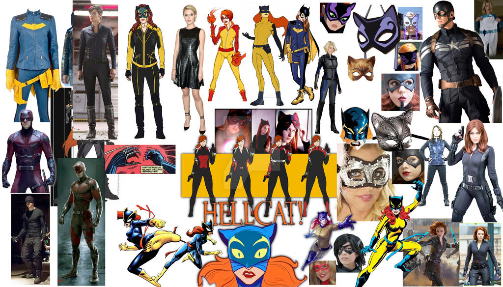 collage inspiration board hellcats inspiration board by needham comics on deviantart